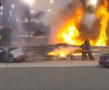 GP do Bahrein tem acidente impressionante e termina com vitória de Lewis Hamilton