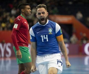 Seleção Brasileira de Futsal supera o Marrocos e vai às semifinais do Mundial